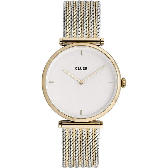 Cluse Reloj Analógico para Mujer de Cuarzo con Correa en Acero Inoxidable CL61002: Amazon.es: Relojes