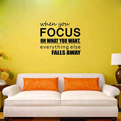 Buy Syga Motivational Thought On Focus Designer Wall Sticker Online ...