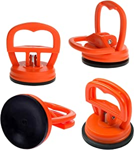 Katzco Mini Suction Cup Lifter - 4 Pack - 2.5 Inch - for Glass, Metal, Plastic, Any Smooth Sheet Surface Material, Automotive Maintenance and More