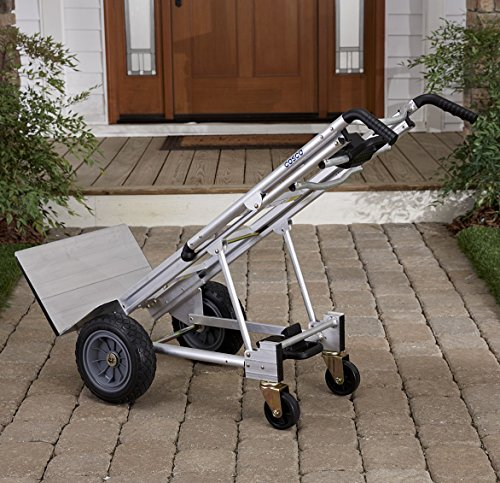 Cosco 3-in-1 Aluminum Hand Truck/Assisted Hand Truck/Cart w/ flat free wheels by Cosco (Image #4)