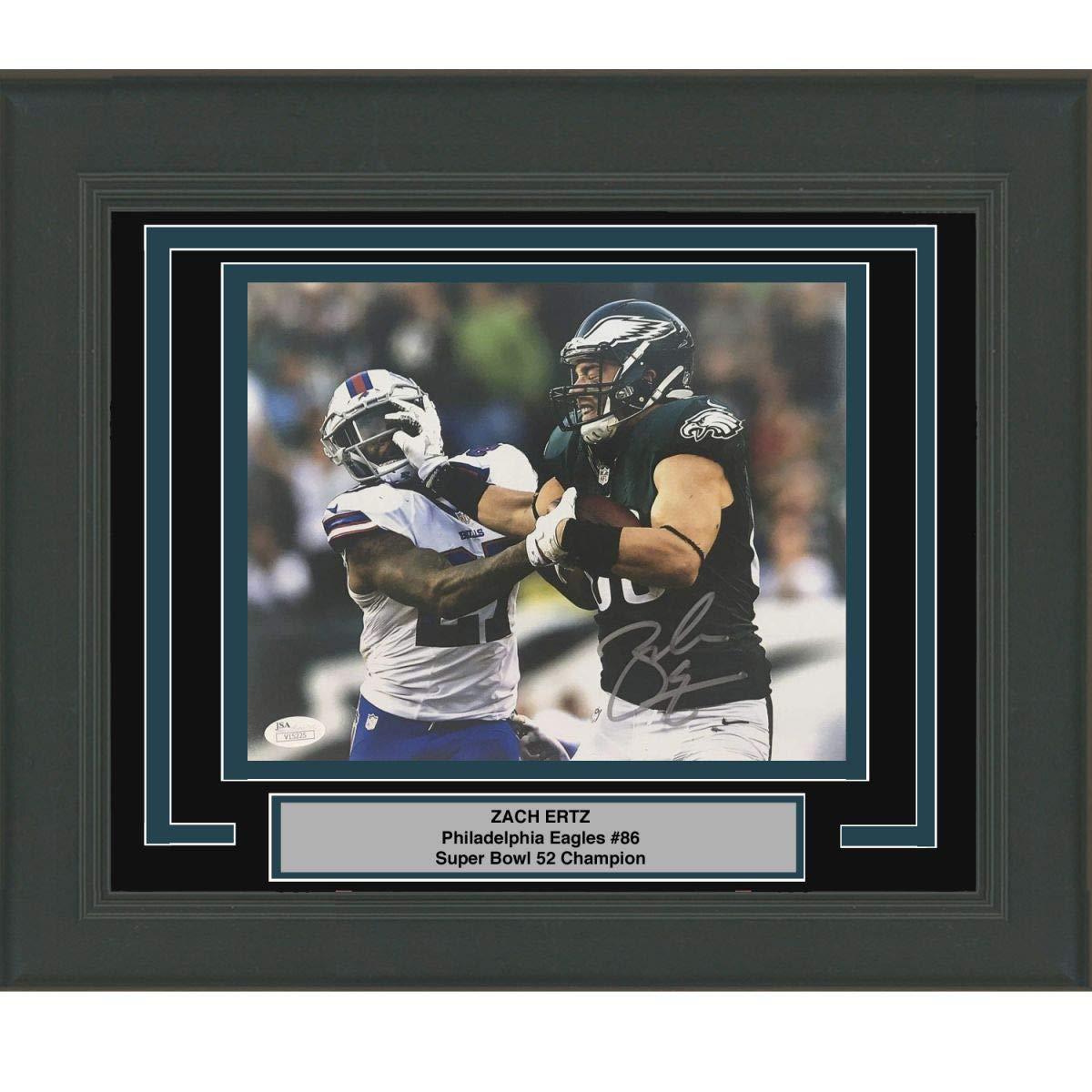 0c32697d798 Framed Autographed/Signed Zach Ertz Philadelphia Eagles Stiff-Arm 8x10  Football Photo JSA COA at Amazon's Sports Collectibles Store