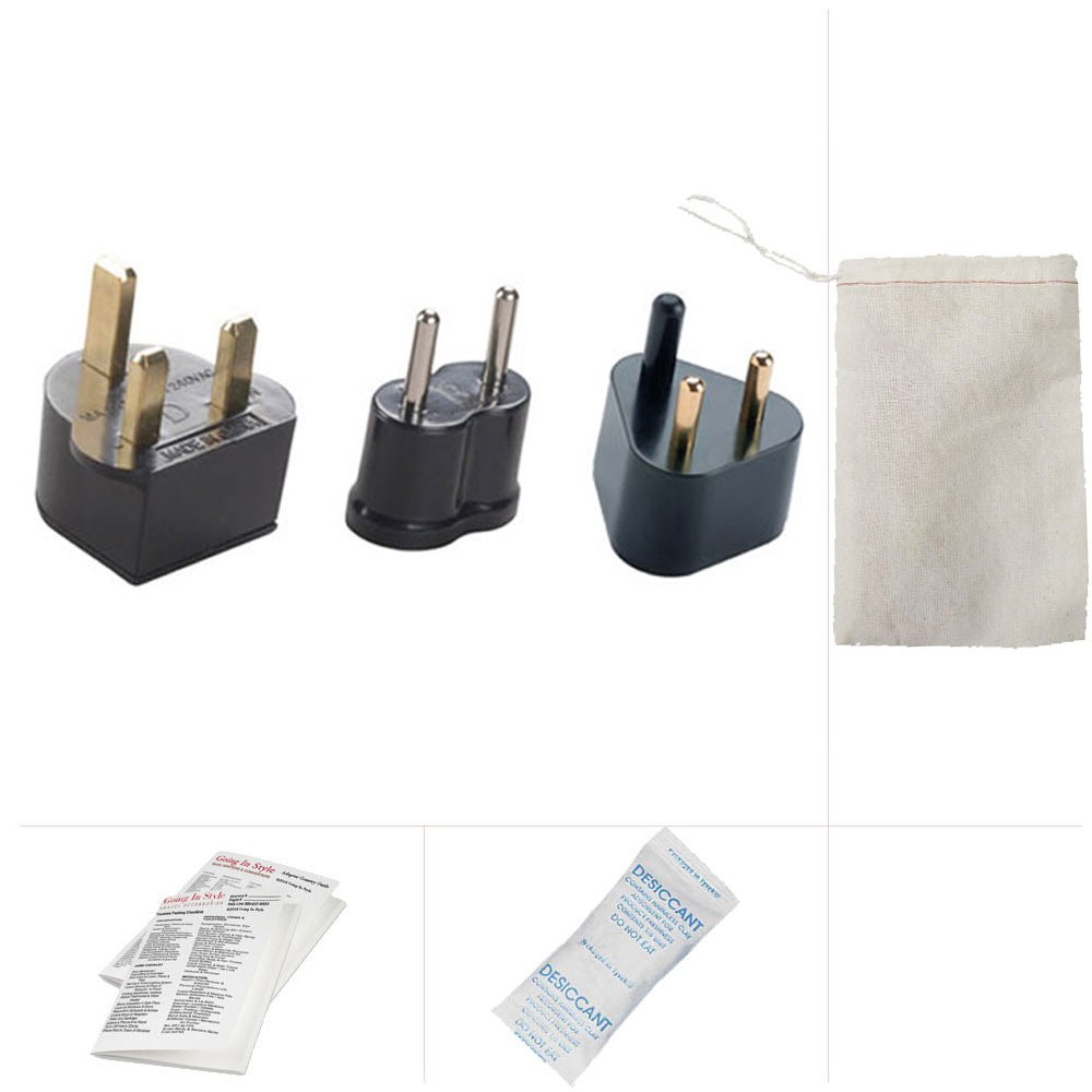Going In Style Jordan Travel Adapter Plug B, D and F Travel Kit
