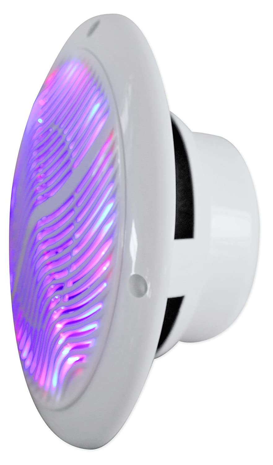 Rockville Rmc65lw 6.5-Inch 600w 2-Way White Marine Speakers with Multi Color Led Plus Remote