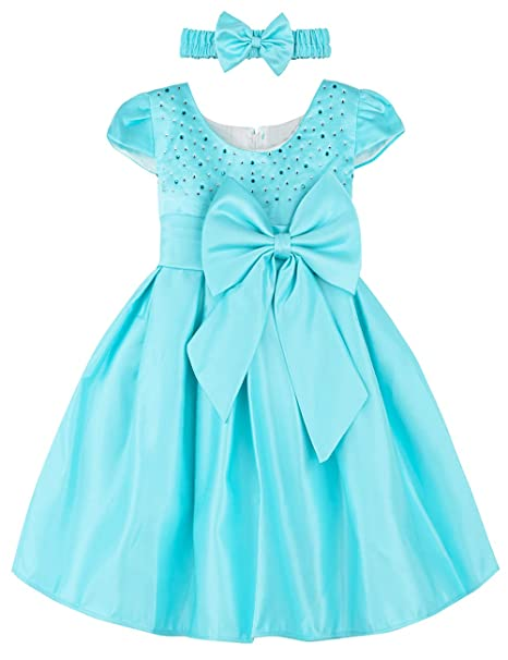 A&J Design Baby Mädchen Prinzessin Kleid Festlich Hochzeit Partykleid mit Stirnband