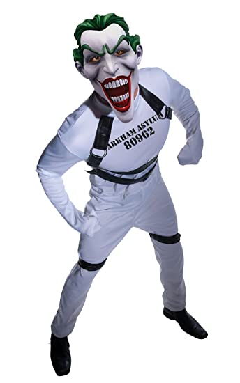 Batman Arkham City Jokers Straightjacket Jumpsuit, White, Standard