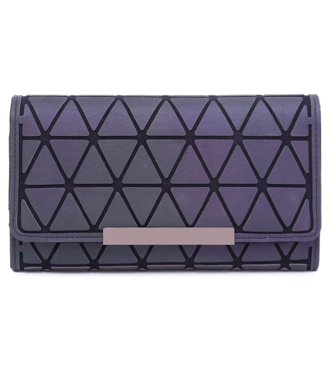 HHXWU Lingge Wallet Geometry Colorful Clutches Womens 30 ...