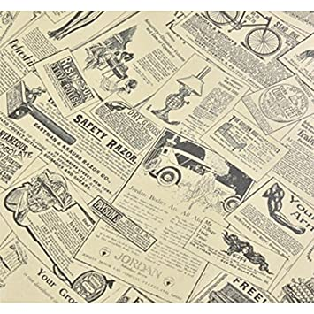 JinZhiCheng DIY Retro Style Old Newspaper Wall Paper for Wall Art ...