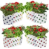 Trust Basket Set Of 20 Premium Colourfull Dotted Grow Bags (20*20*35 cms)