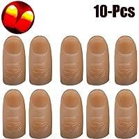 Outgeek 10PCS LED Finger Lamps Flash Funny Thumb Light Party Magic Light
