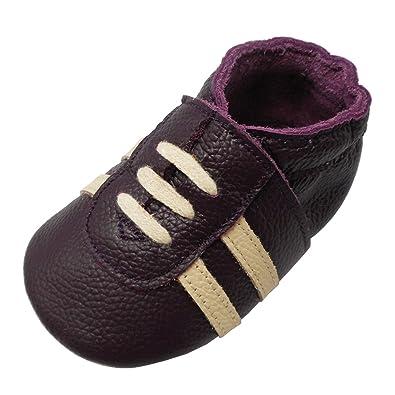 1c75ba8dbac33 YIHAKIDS Chaussures Bébé en Cuir Doux- Bébé Chaussure de Tennis Sport- Chaussons  Bébé en