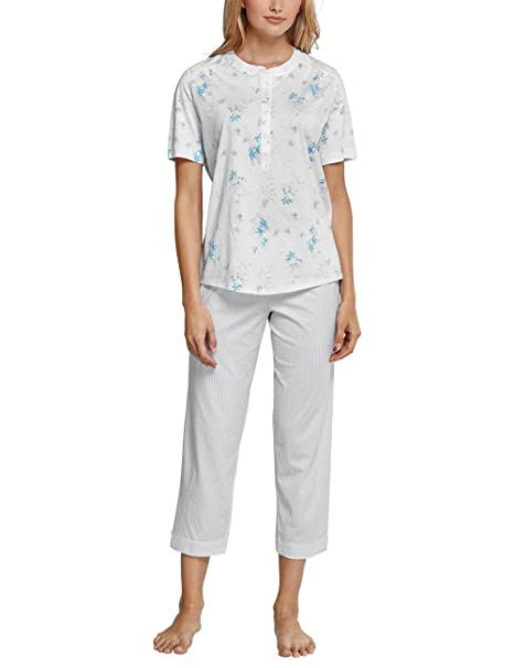 Schiesser Anzug 7/8, 1/2 Arm, Conjuntos de Pijama para Mujer