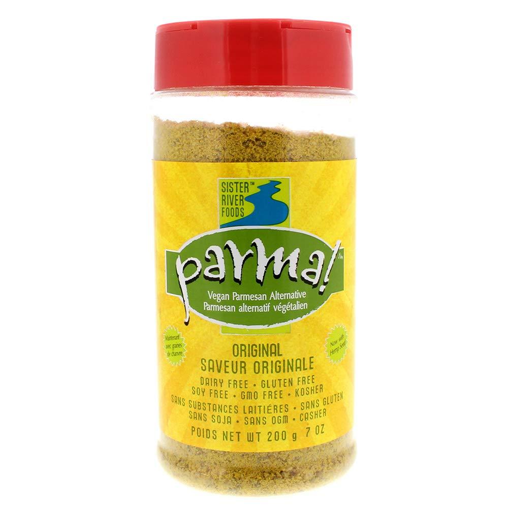Parma! Vegan Parmesan - Original, Dairy-Free, Soy-Free and Gluten-Free Vegan Cheese, Plant-Based Superfood, Kosher (7 ounces)