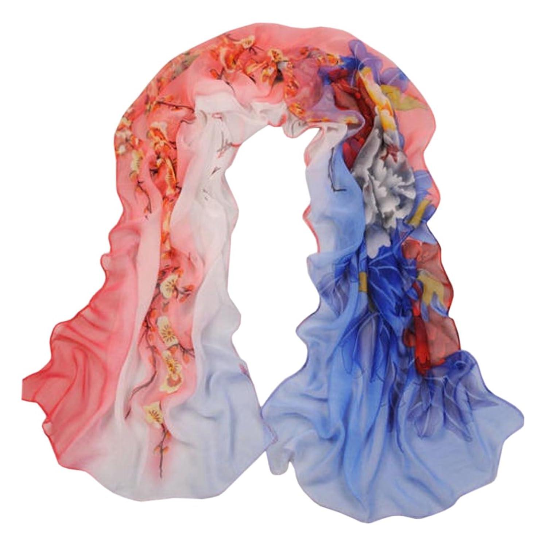 Fashion Lady Girl鈥檚 Summer Long Soft Chiffon Scarf Wraps Shawl Stole Scarves