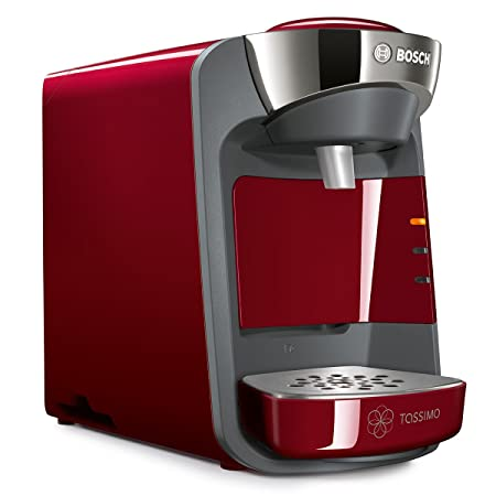 Bosch TAS3203 Tassimo Suny - Cafetera multibebidas automática de cápsulas con sistema SmartStart, color rojo: Amazon.es: Hogar