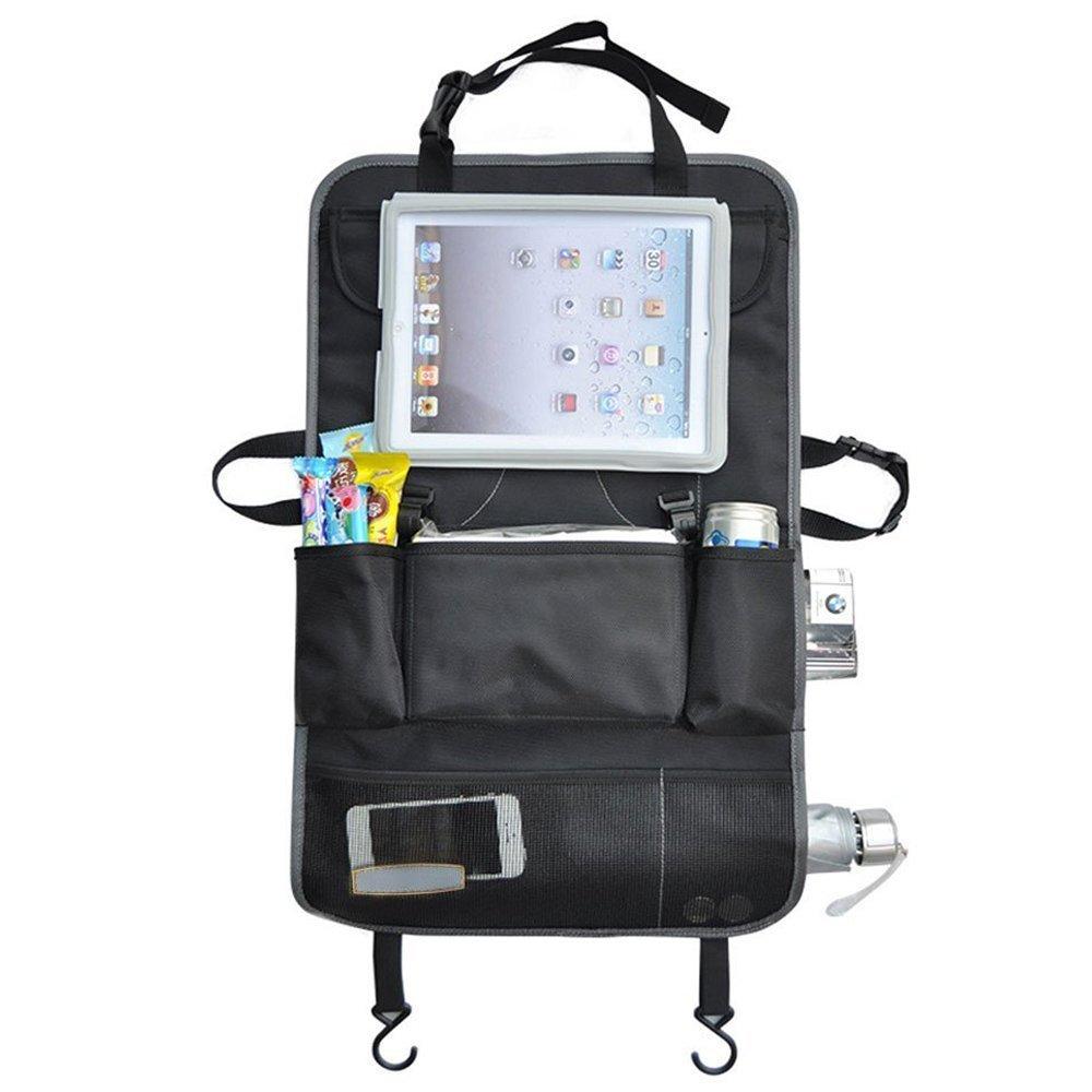Trade Pro organisateur pour siège arrière de voiture & support pour iPad/Tablette à écran tactile pour enfants et protecteur de housse de siège pouvant servir à ranger les jouets,