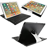 iPad Pro Keyboard Case, KVAGO 360 Rotating Stand Mount Clamshell Detachable Wireless Bluetooth Keyboard Swivel Case Protective Cover Hard Shell Flip Turn Keyboard Folio Case for Apple iPad Pro 12.9 inch Tablet Black + Screen Protector + Stylus Pen