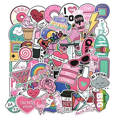 Girl Cute Lovely Laptop Stickers Water Bottle Skateboard Motorcycle Phone Bicycle Luggage Guitar Bike Sticker Decal 60pcs Pack ()