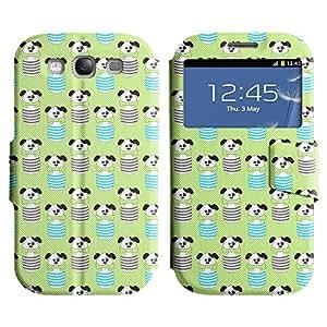 LEOCASE patas lindas Funda Carcasa Cuero Tapa Case Para Samsung Galaxy S3 I9300 No.1006805