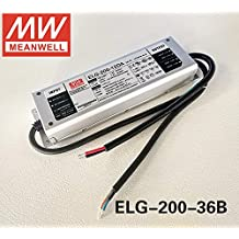 MEAN WELL Power Supply ELG-200-36B 200W 36V 5.55A IP67 Dimmable LED Driver ELG-200 B type