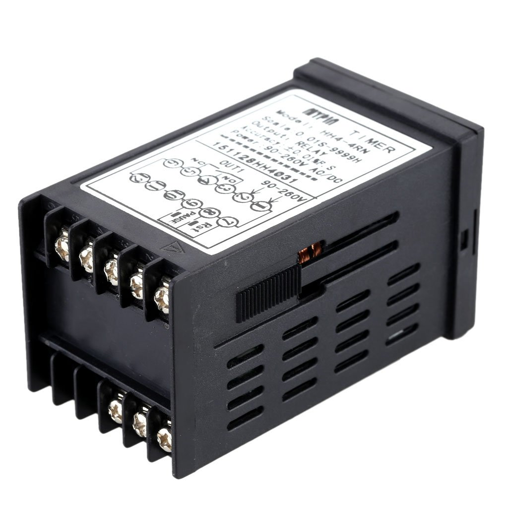 Ben-gi Contatore Tempo mypin HH4-4RN Digital Countdown Timer per Industrial Cronografo Uscita rel/è di Allarme 1