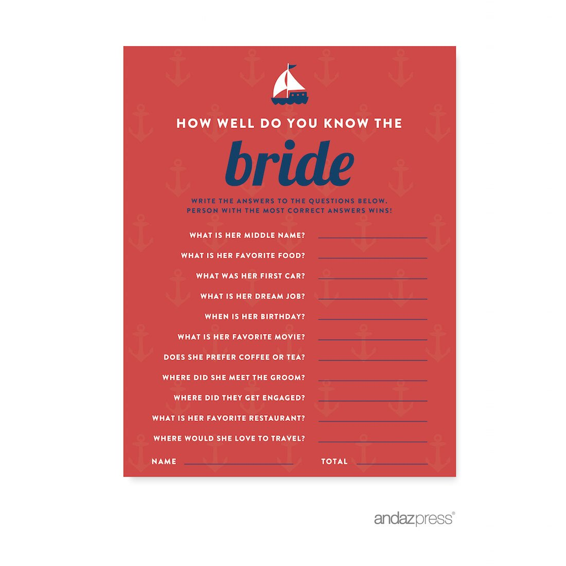 andaz press nautical ocean adventure wedding collection how well do you know the bride