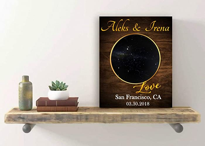 Amazon Personalized Star Map Sign Anniversary Gifts For