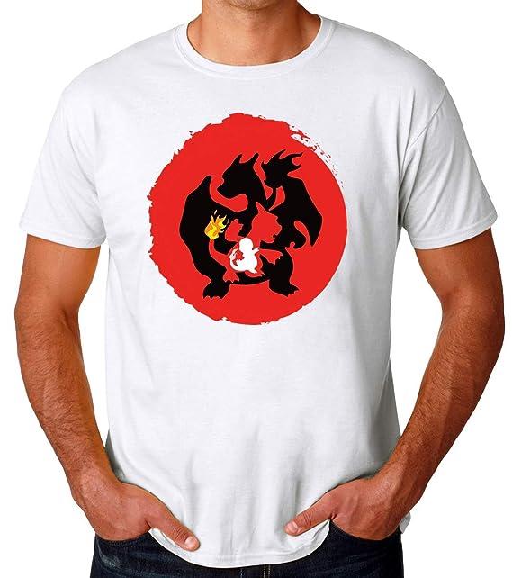 897abfc216 Pokemon Charmander Charmeleon Charizard Evolution Camiseta para Hombres   Amazon.es  Ropa y accesorios