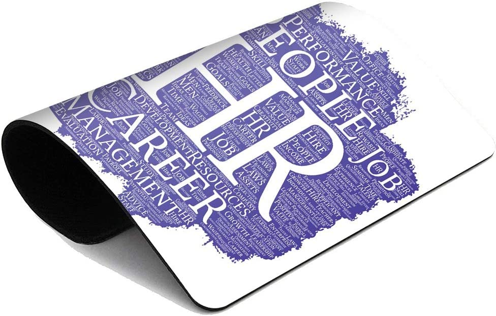 Suike Mousepad Computer Notepad Office Conceptual Hr Human Resources Career Management Brush Paint Word Cloud Collage Home School Game Player Computer Worker 9.5x7.9 Inch