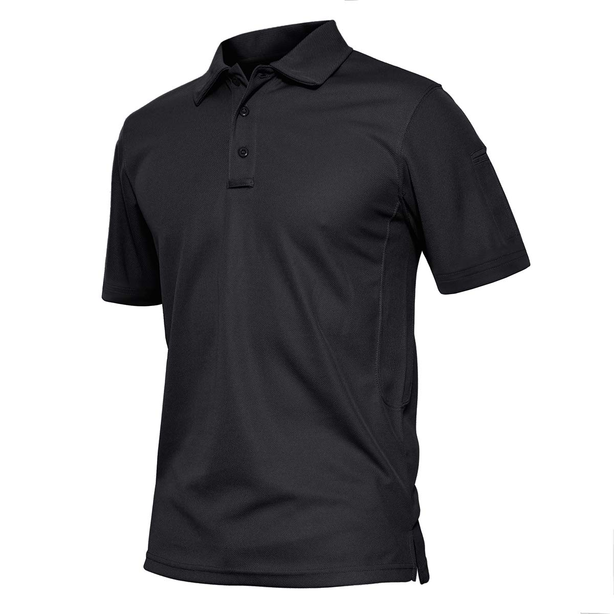 TACVASEN Men's Quick Dry Combat Airsoft Long Sleeve Polo Shirt Top,US L by TACVASEN