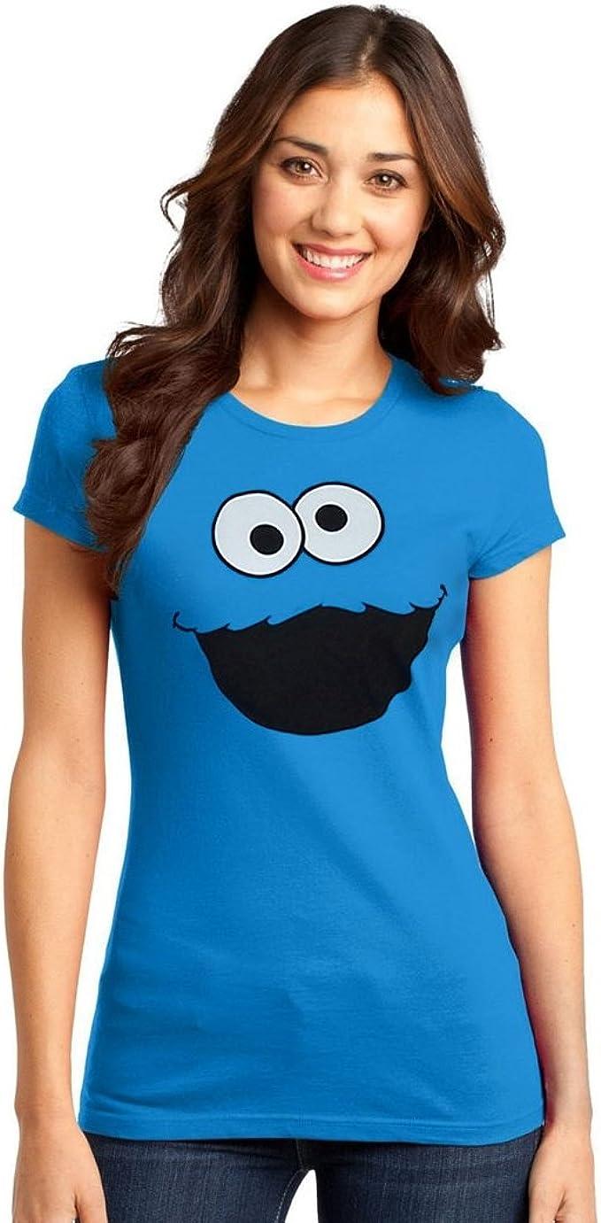 Big Bird Face Junior Women/'s T-Shirt