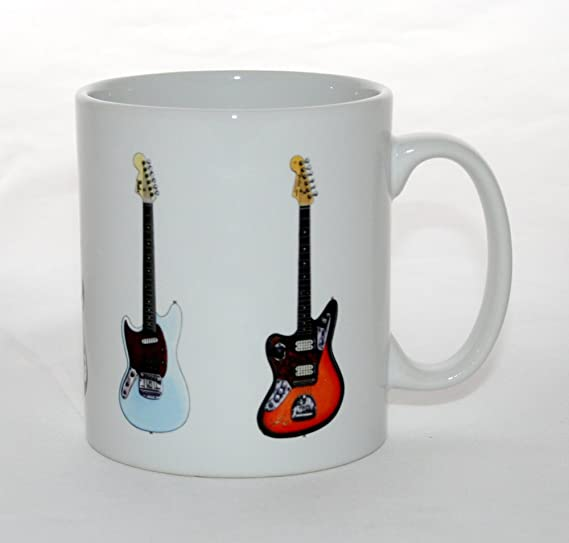 George Morgan Illustration Taza de Guitarra 5 Guitarras Famosas de ...