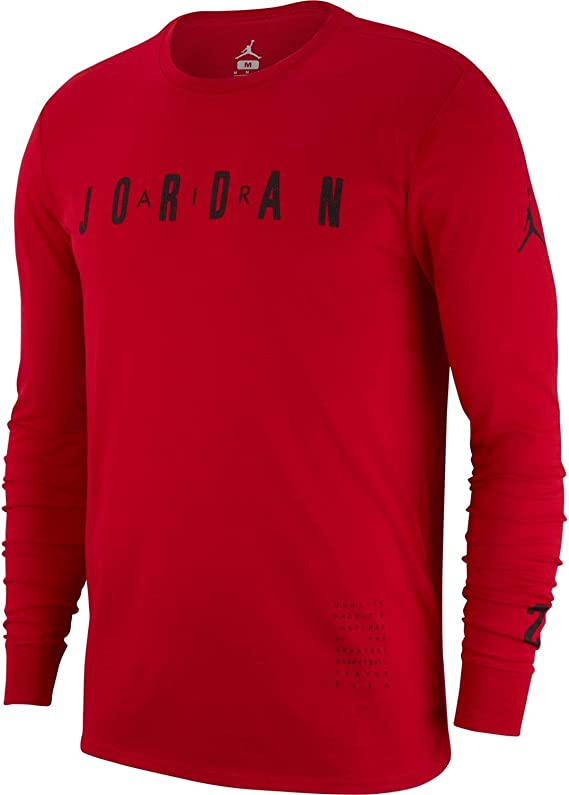 Jordan Ho 1 Camiseta De Manga Larga, Hombre, Gym Red/Black, 3XL: Amazon.es: Deportes y aire libre