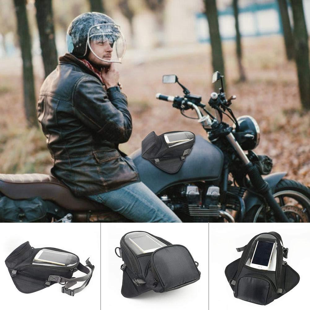 Luerme Sacoche de r/éservoir de Moto Portable Multi-Function imperm/éable Sac de r/éservoir de Carburant de Moto en Plastique /Écran Tactile Universel Sac de r/éservoir de Carburant