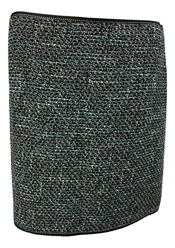 Petite Tweed Pencil Skirt - Elie Tahari Women's Tweed Virgin Wool Serafina Pencil Skirt, Cement/Teal, Petite 10 10P