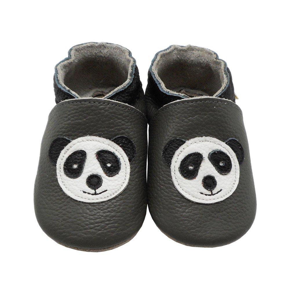 5b1913889730d YIHAKIDS Chaussures Premiers Pas Bébé Fille Garçon Chaussures Cuir Souple  Enfant Chaussures avec Dessin Panda