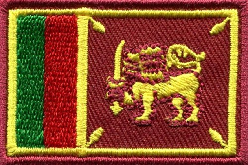 Flag of Sri Lanka Sinhalese Ceylon Lion Applique Iron-on Patch New Medium S-777 Free Shipping by SITAWAN [並行輸入品]   B01KUCAOWG
