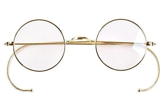 Amazon.com: Agstum Retro Small Round Optical Rare Wire Rim ...