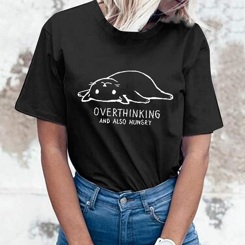 SADUORHAPPY Womens Casual Cute Shirts Leopard Print Tops Basic Long Sleeve Soft Blouse Sweatshirt