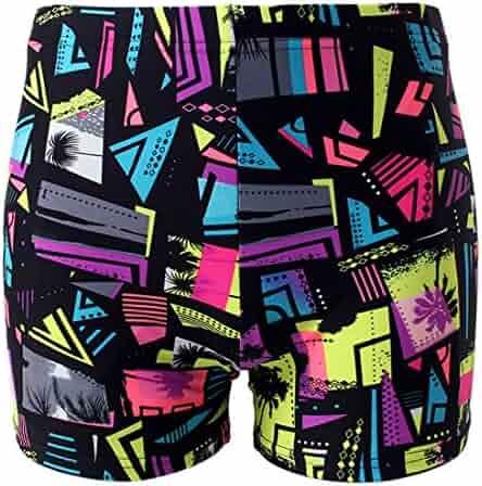 8ee9ccd1cb HaoLian Boys Swim Trunks Cartoon Print Cute Swim Shorts for Kids ...
