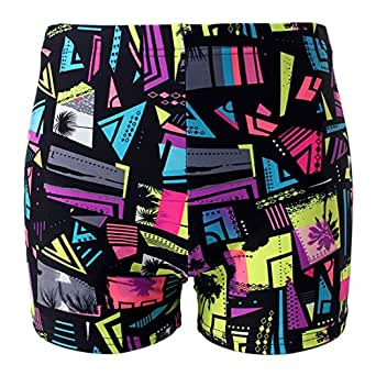 "Little Boys Swim Trunk Pull On Print Swim Shorts Cartoon Black Waist 17.7""-19.6"""