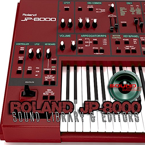 for ROLAND JP-8000 Large Original Factory & NEW Created Sound Library & Editors on CD or download by SoundLoad