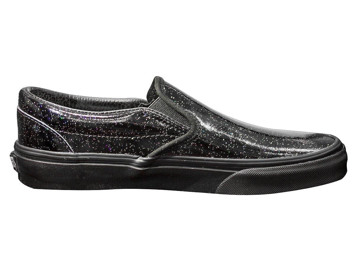Vans Classic, Unisex-Erwachsene Classic Slip-on Patent Galaxy Black Black, Schwarz - Schwarz - Größe: EU 35 (US 4)