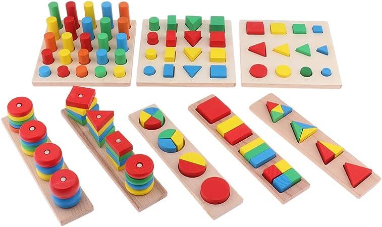 Montessori  Steckspiel Sortierspiel Puzzlespiele frühkindliche Erziehung