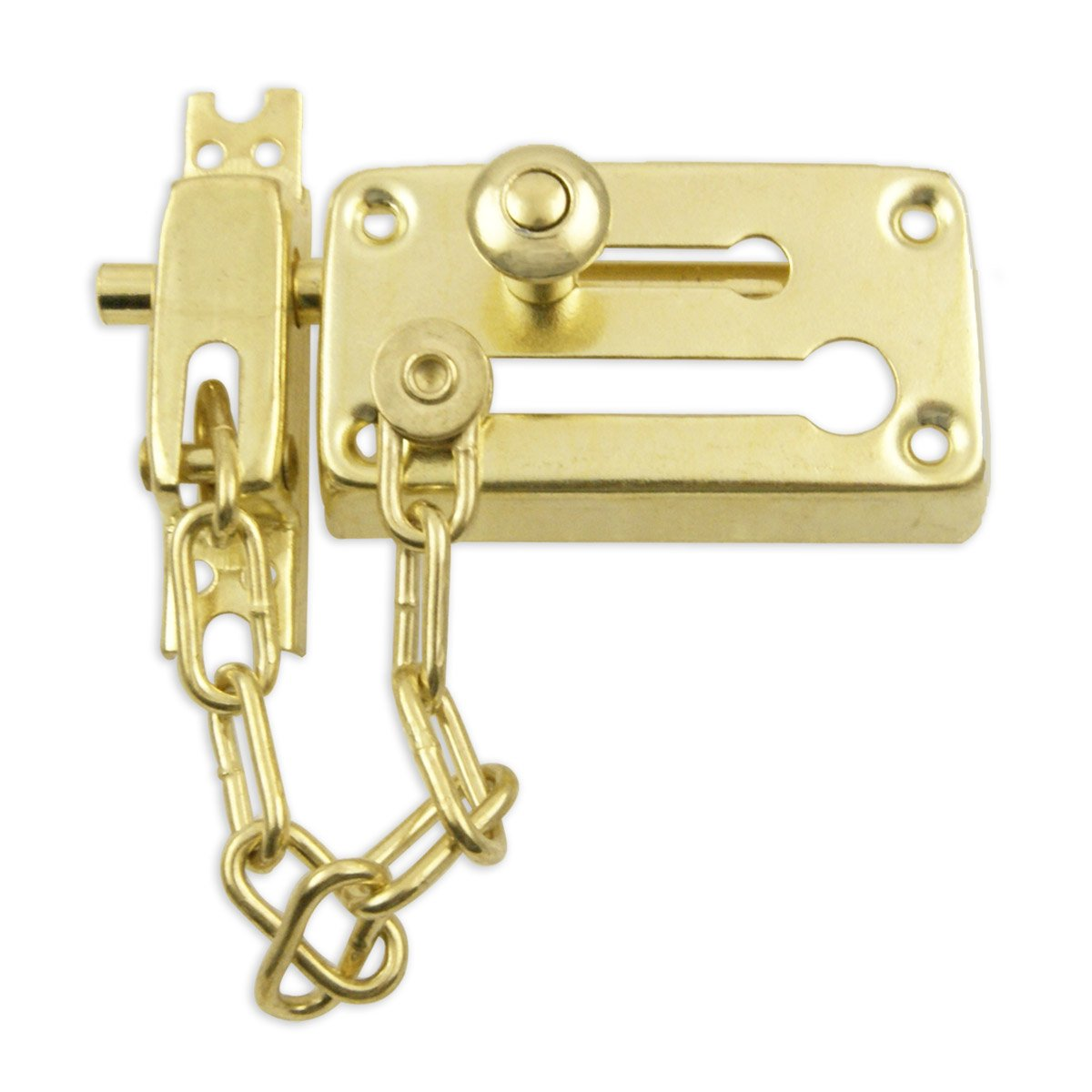 Heavy-Duty Combination Door Chain & Dead Bolt Lock Set - Chain ...