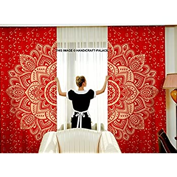 Amazon Com Handicraft Palace Red Gold Beautiful Ombre
