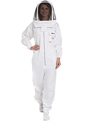 Natural Apiary Max Pro Beekeeping Suit, Large, White