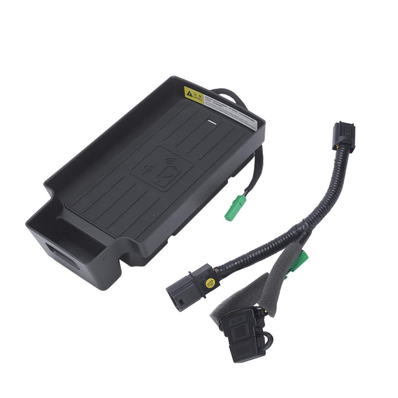 TOOGOO 10W Car Mobile Phone Qi Charging Pad Module Console Storage Box for Q3 2013-2019 Car Accessories