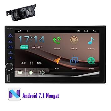 7 pulgadas Android 7.1 estéreo del coche, Unidad GPS, Bluetooth para Llamada manos libres