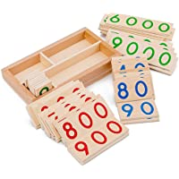 F Fityle Mathematics Number Card 1-9000 Cognition Developmental Montessori Learning