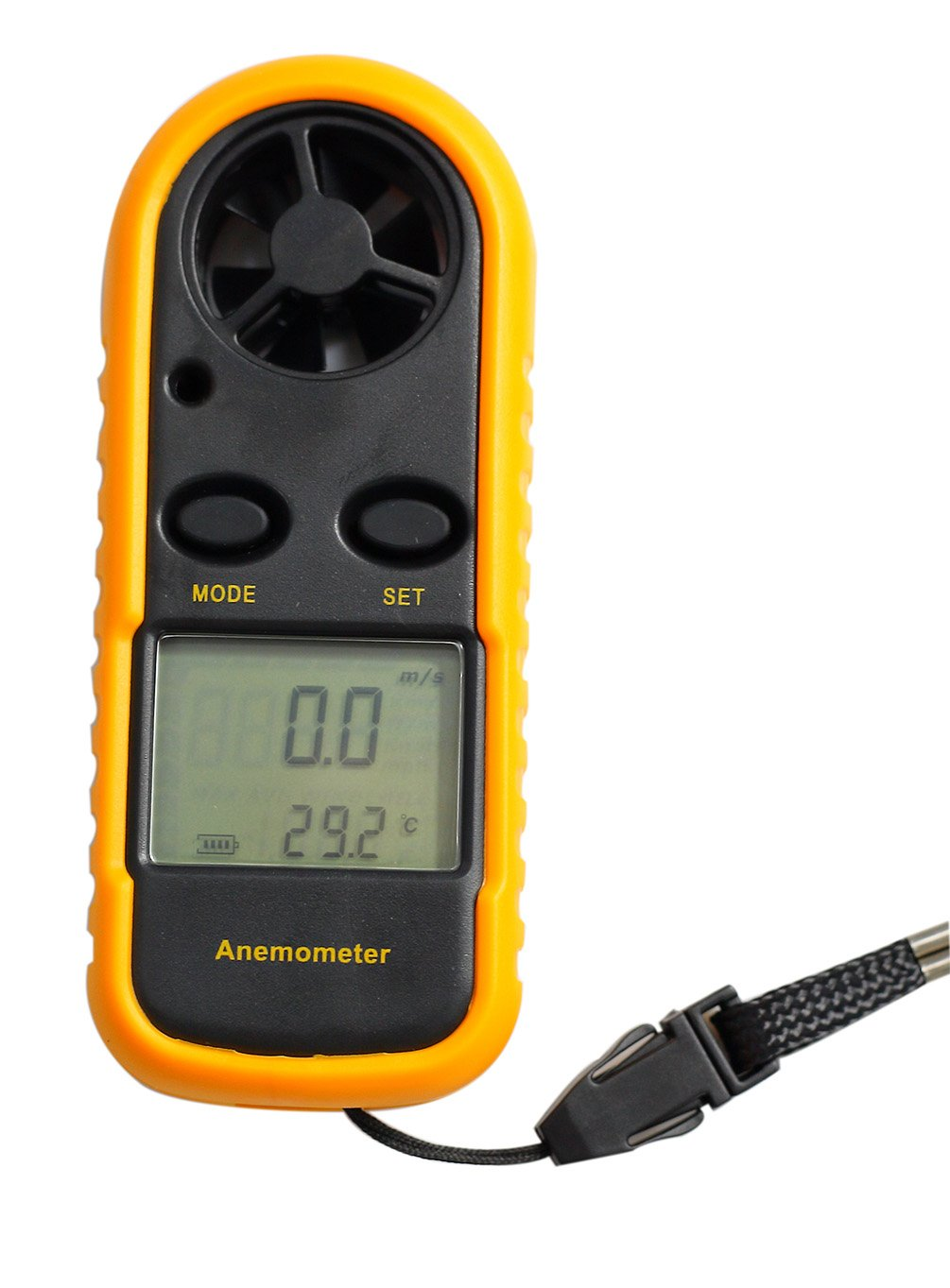 AMTAST Digital LCD Anemometer Wind Speed Measurement,Temperature Function Backlight,Portable for Kite Flying Surfing,Outdoor Activities